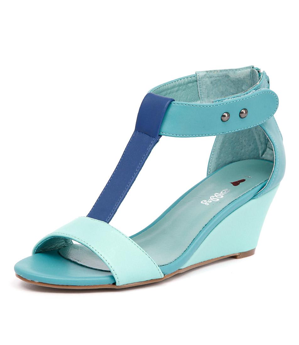 I Love Billy Bazzy Aqua-Cobalt-Jade Sandals