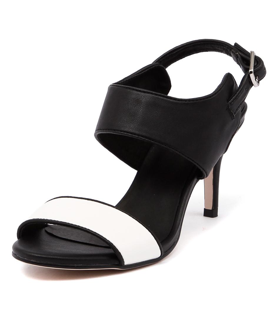 I Love Billy Canopy White-Black-Black Sandals