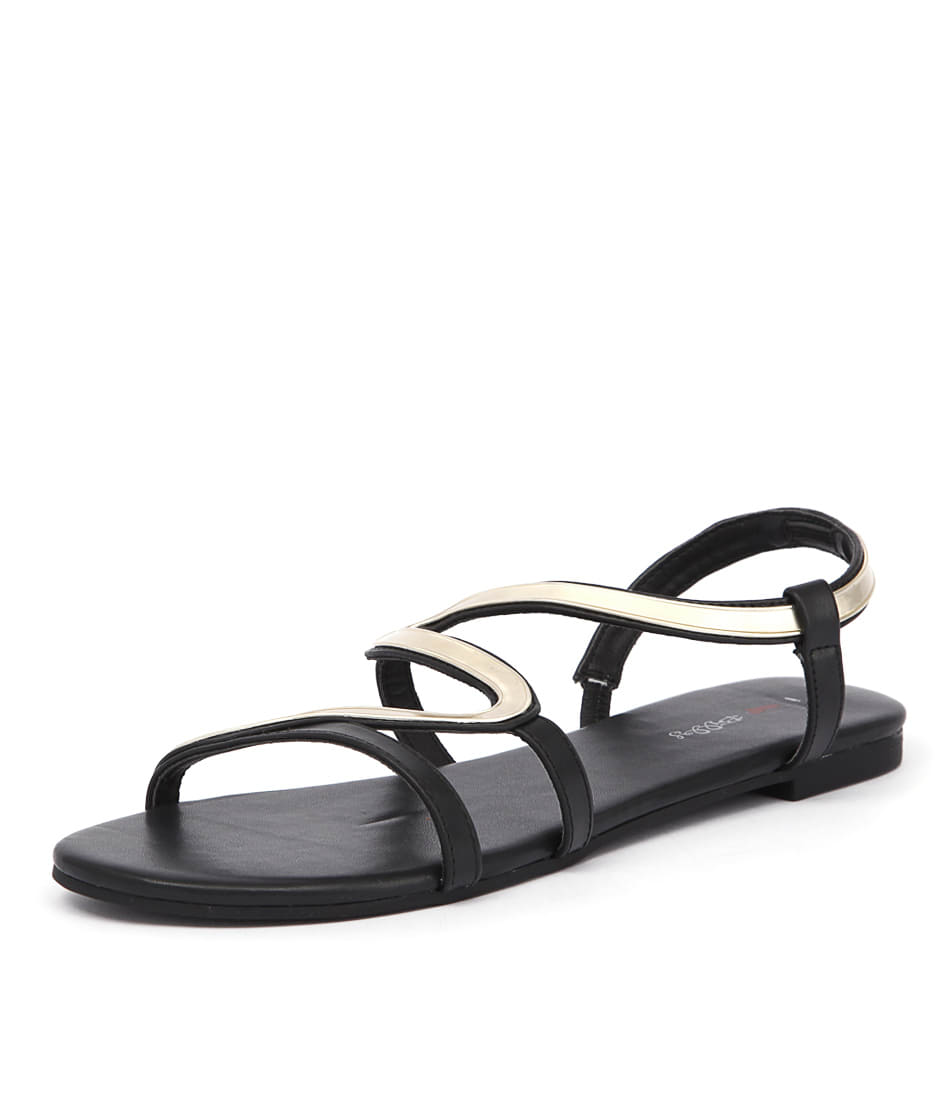 I Love Billy Olour Black-Gold Sandals