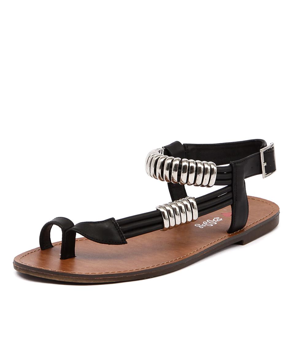 I Love Billy Archie Black Smooth Sandals