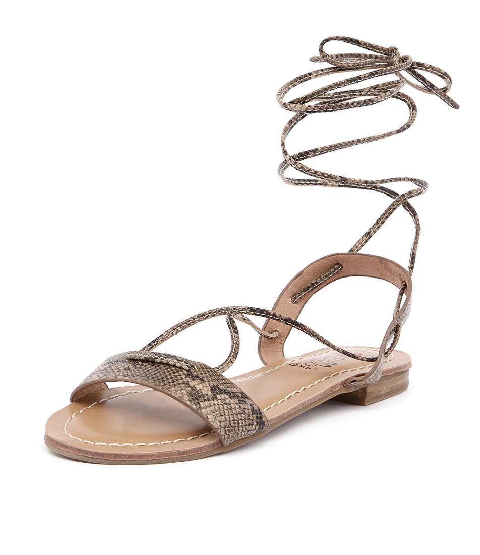 I Love Billy Shawai Natural-Snake Sandals