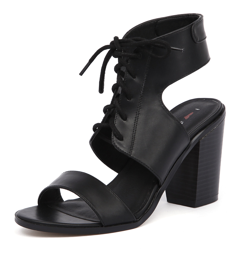 I Love Billy Brillie Black Smooth Sandals