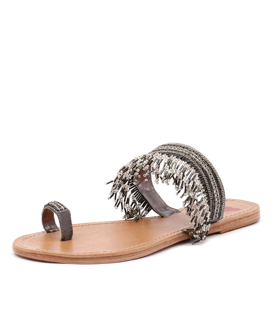 I Love Billy Camby Silver Sandals
