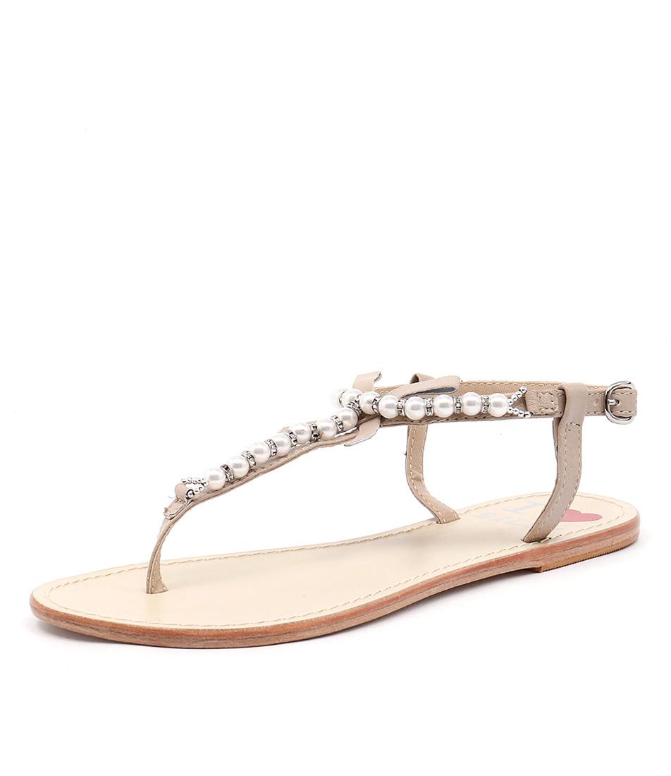 I Love Billy Crawf Nude Sandals