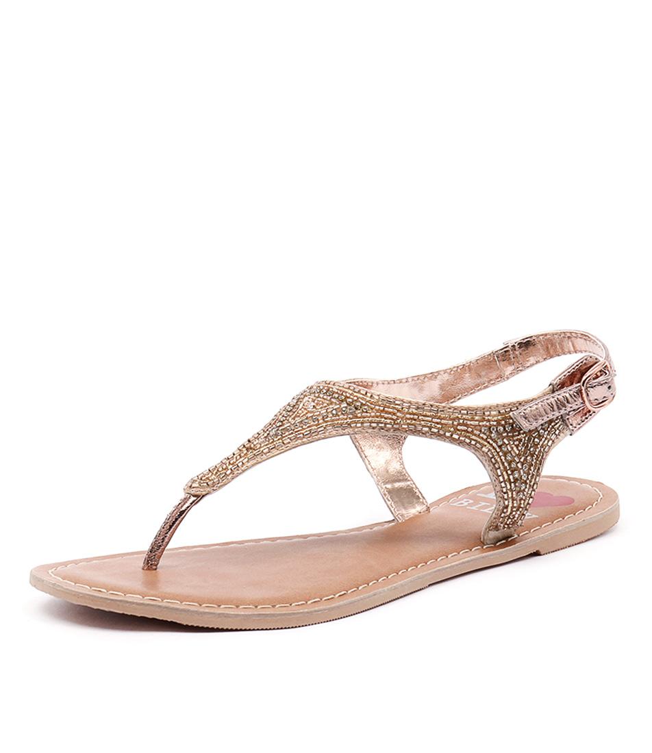 I Love Billy Cuz Rose Gold Sandals