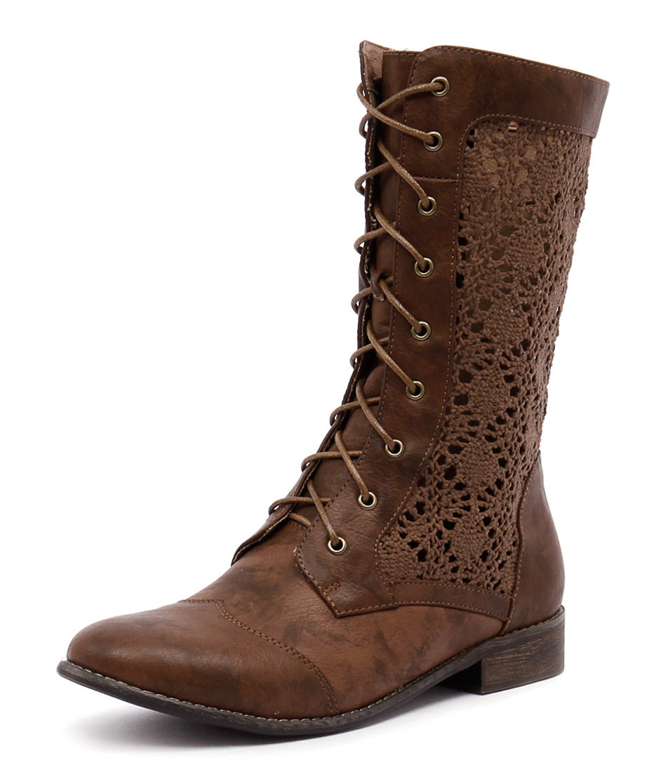 I Love Billy Finn Light Mocca-Light Mocca Lace Boots online