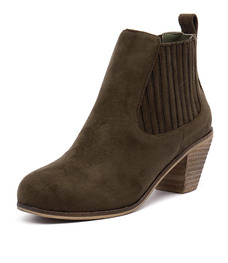 I Love Billy Riptide Khaki Boots
