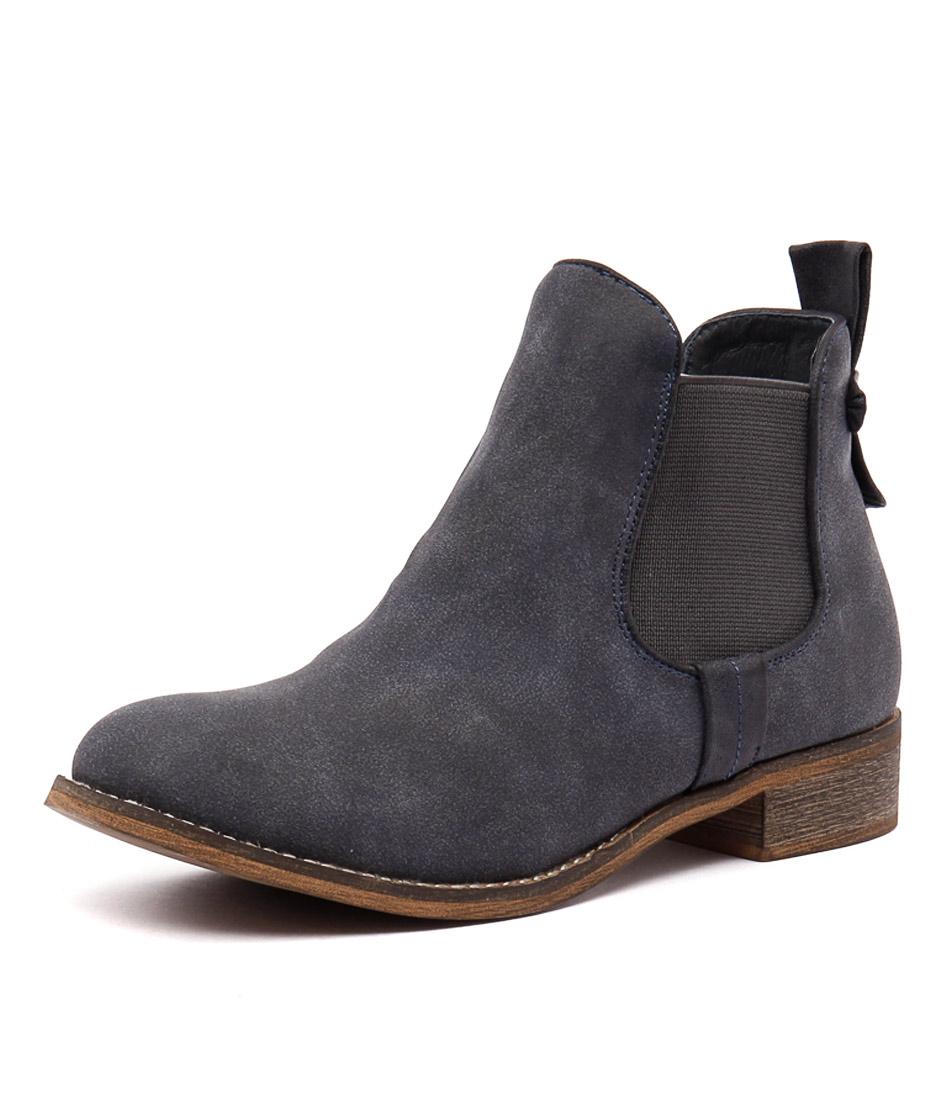 I Love Billy Saunders Navy Nubuck-Navy Boots