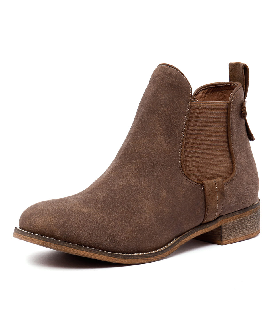 I Love Billy Saunders Mocca Nubuck-Mocca Boots