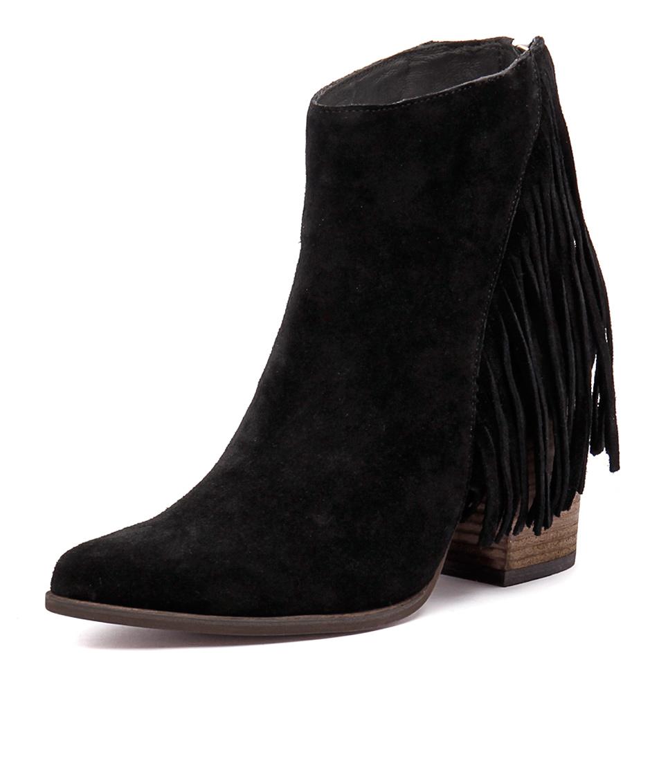 I Love Billy Kady Black Suede Boots