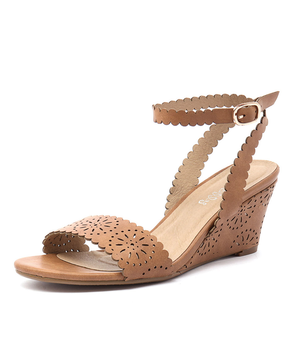 I Love Billy Bettie Tan Laser Smooth Sandals