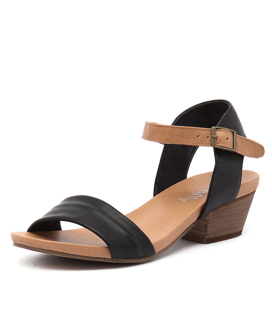 I Love Billy Contessa Black-Tan Sandals