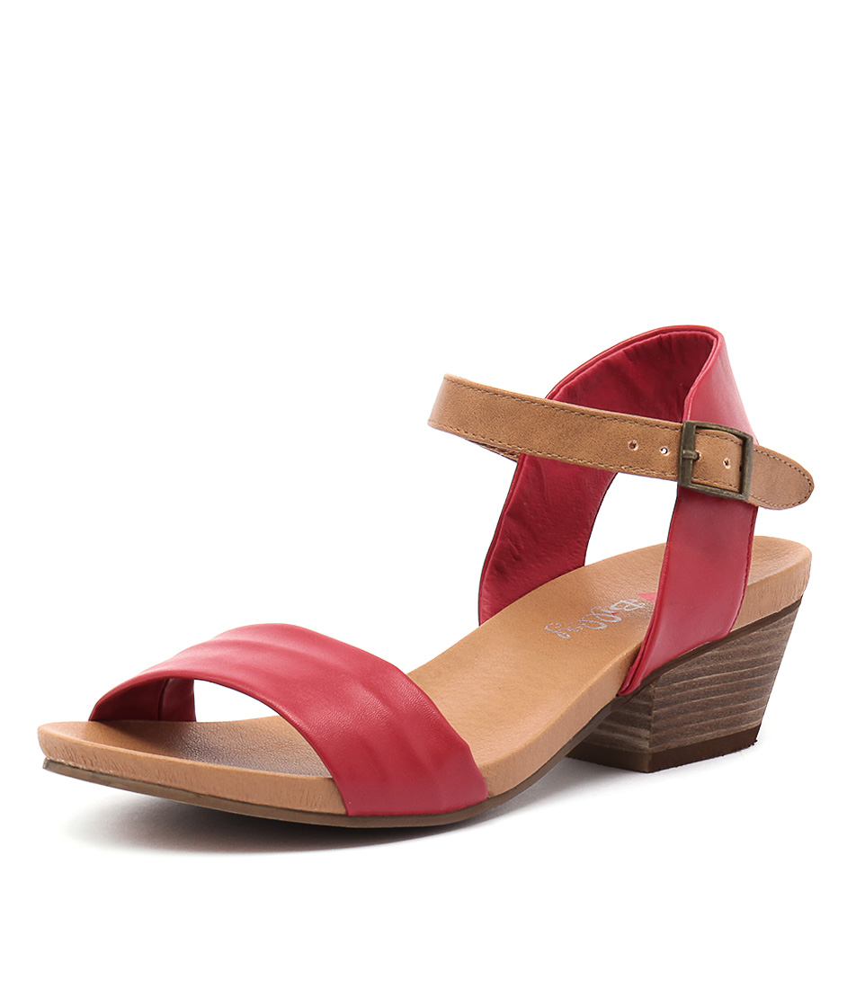 I Love Billy Contessa Red-Tan Sandals online