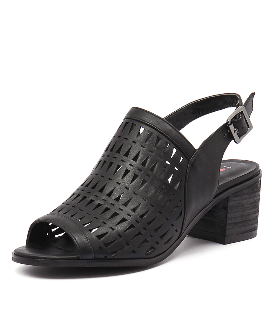 I Love Billy Skittle Black Cut Sandals