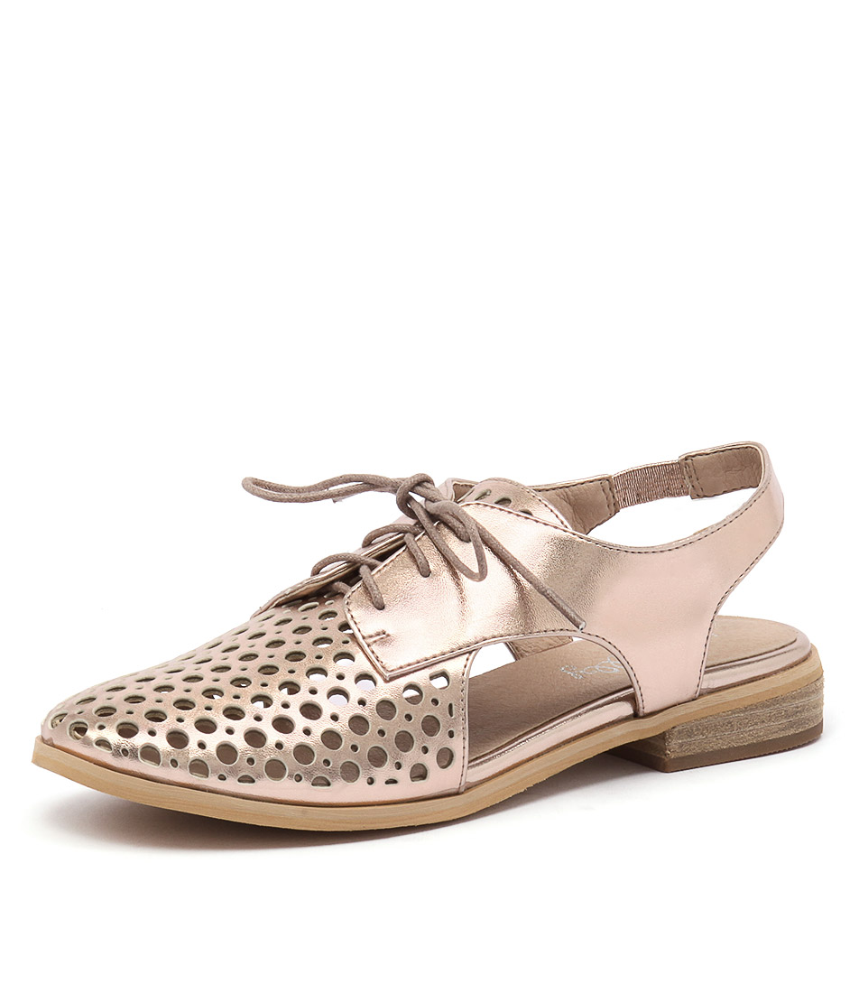 I Love Billy Quibblet Rose Gold Shoes