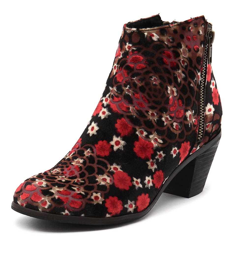 I Love Billy Nolo Black-Red Boots