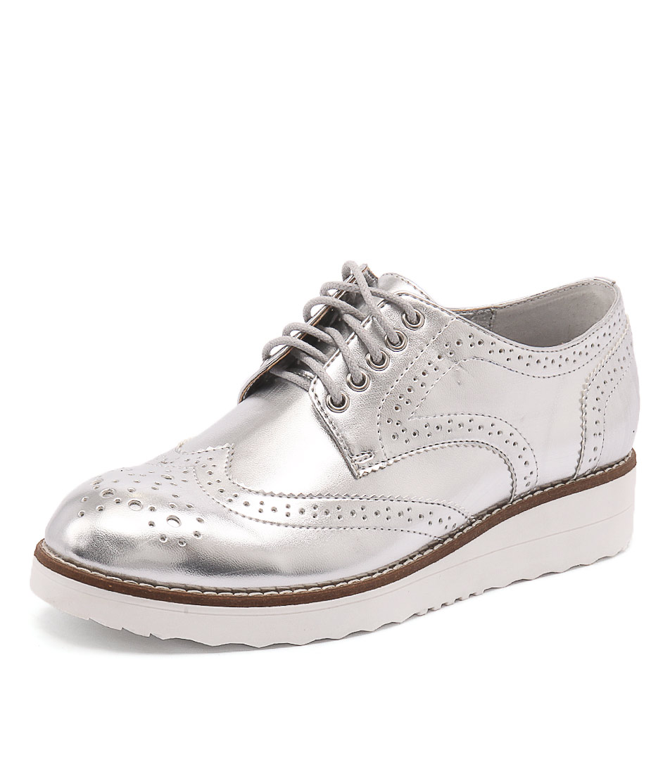 I Love Billy Oscal Silver Shoes