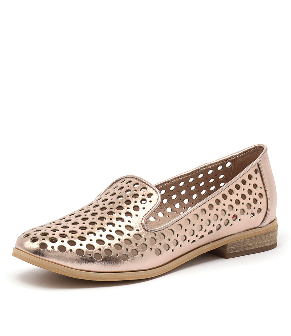 I Love Billy Question Rose Gold Loafers