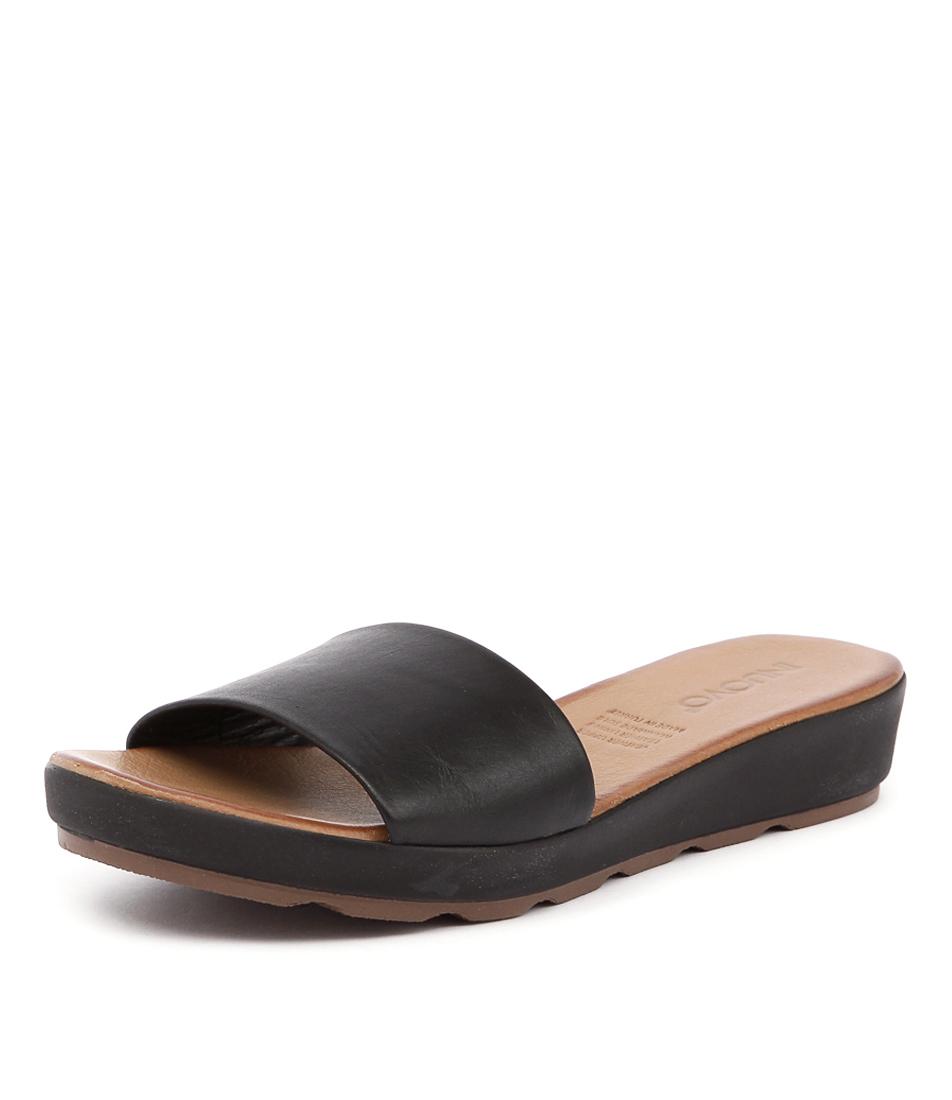 Inuovo Bultina Black Sandals