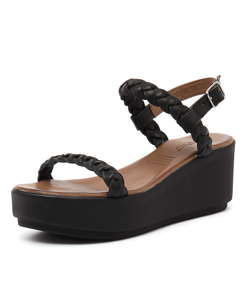 Inuovo Carribean Black Sandals