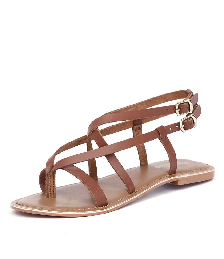 Just Because Latina Tan Sandals
