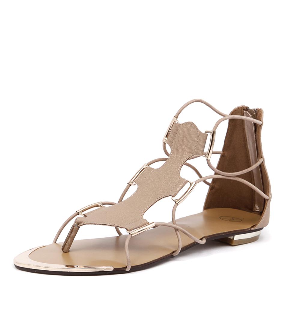 Ko Fashion Anja Beige-Gold Sandals