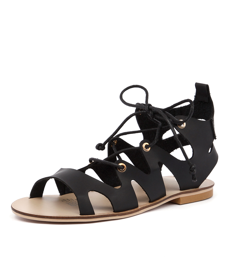 Ko Fashion Morgin Black Sandals