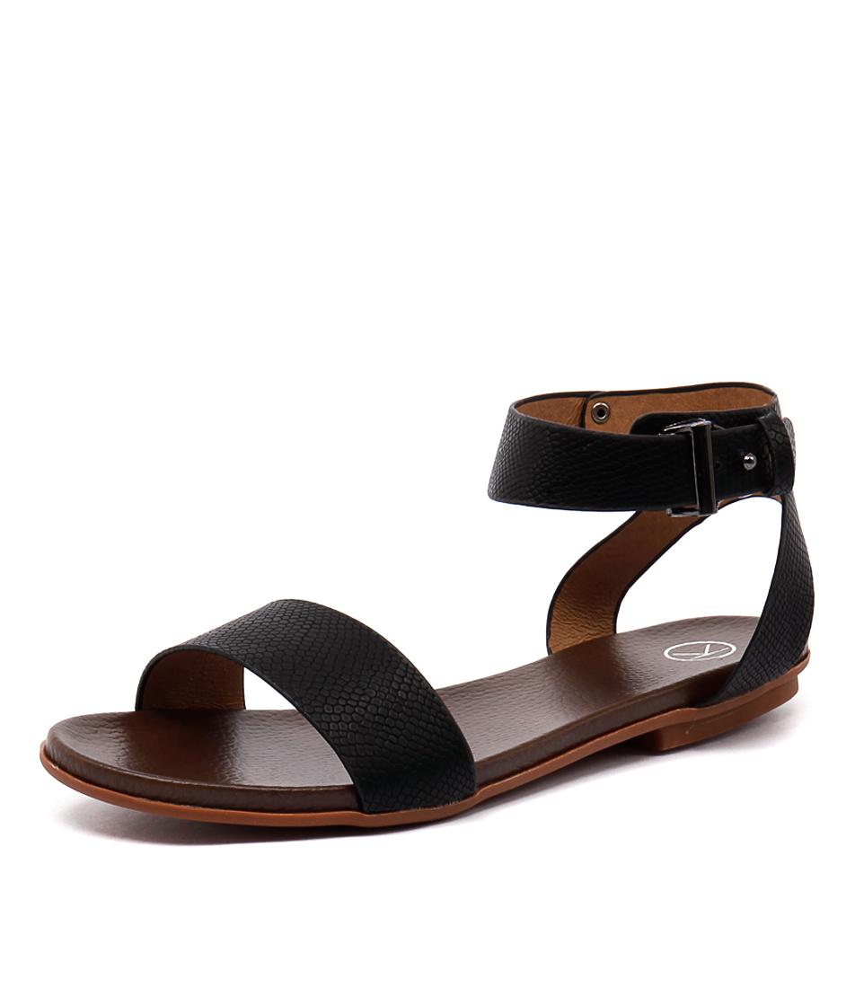 Ko Fashion Ralphy Black Sandals