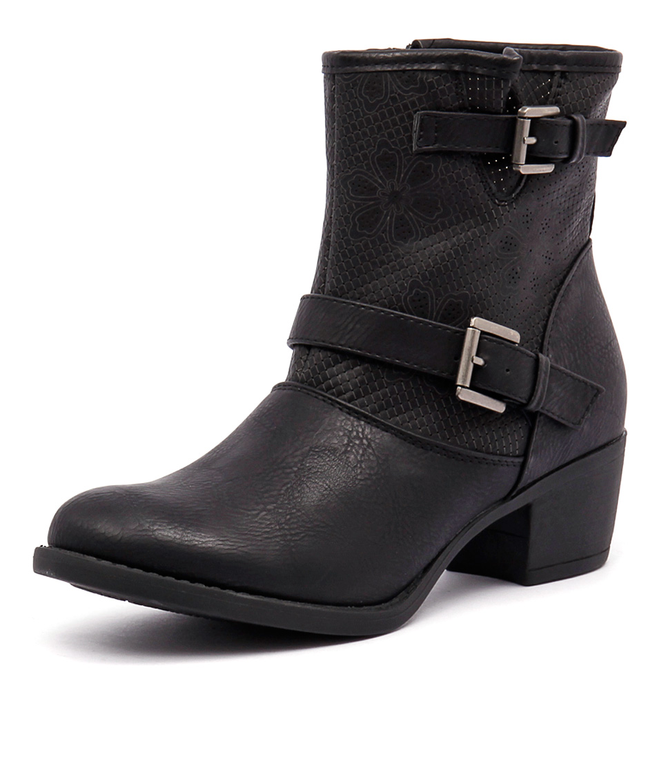 Ko Fashion Beaker Black Boots