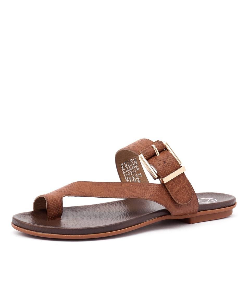 Ko Fashion Corfu Dark Brown Sandals online