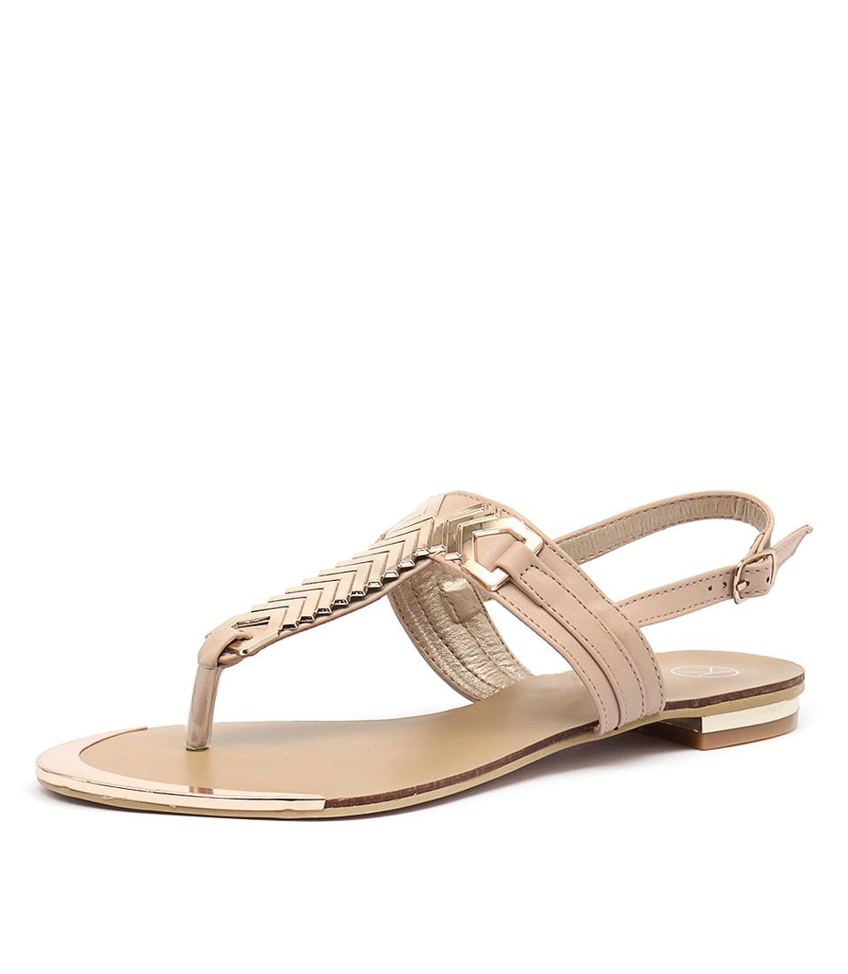 Ko Fashion Mya Beige-Gold Sandals