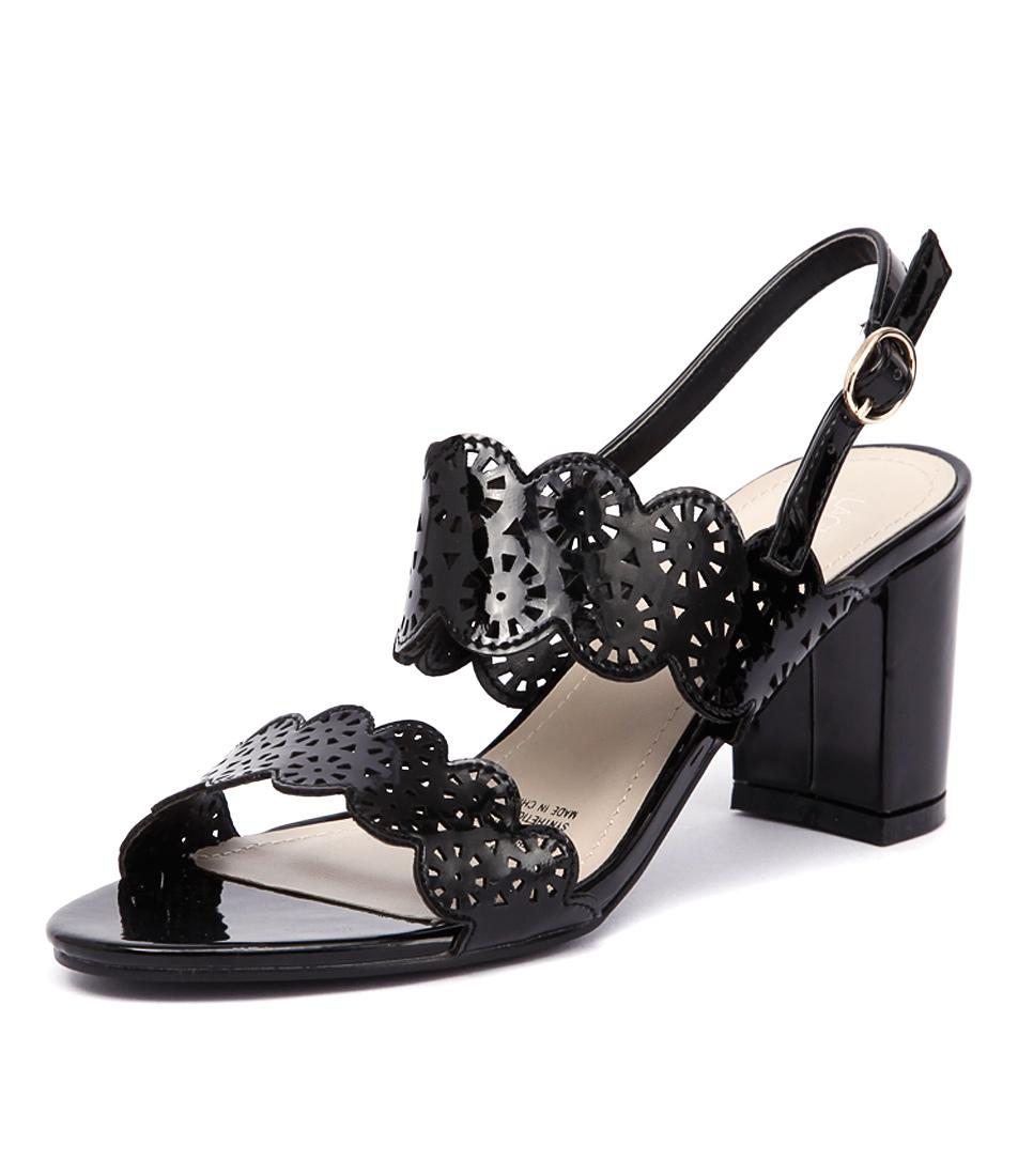 Laguna Quays Serene Black Patent Sandals