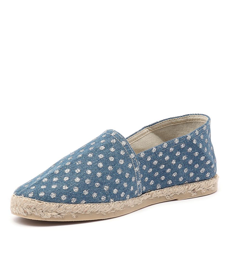 La Maison de L'Espadrille 324 Denim Silver Spot Shoes