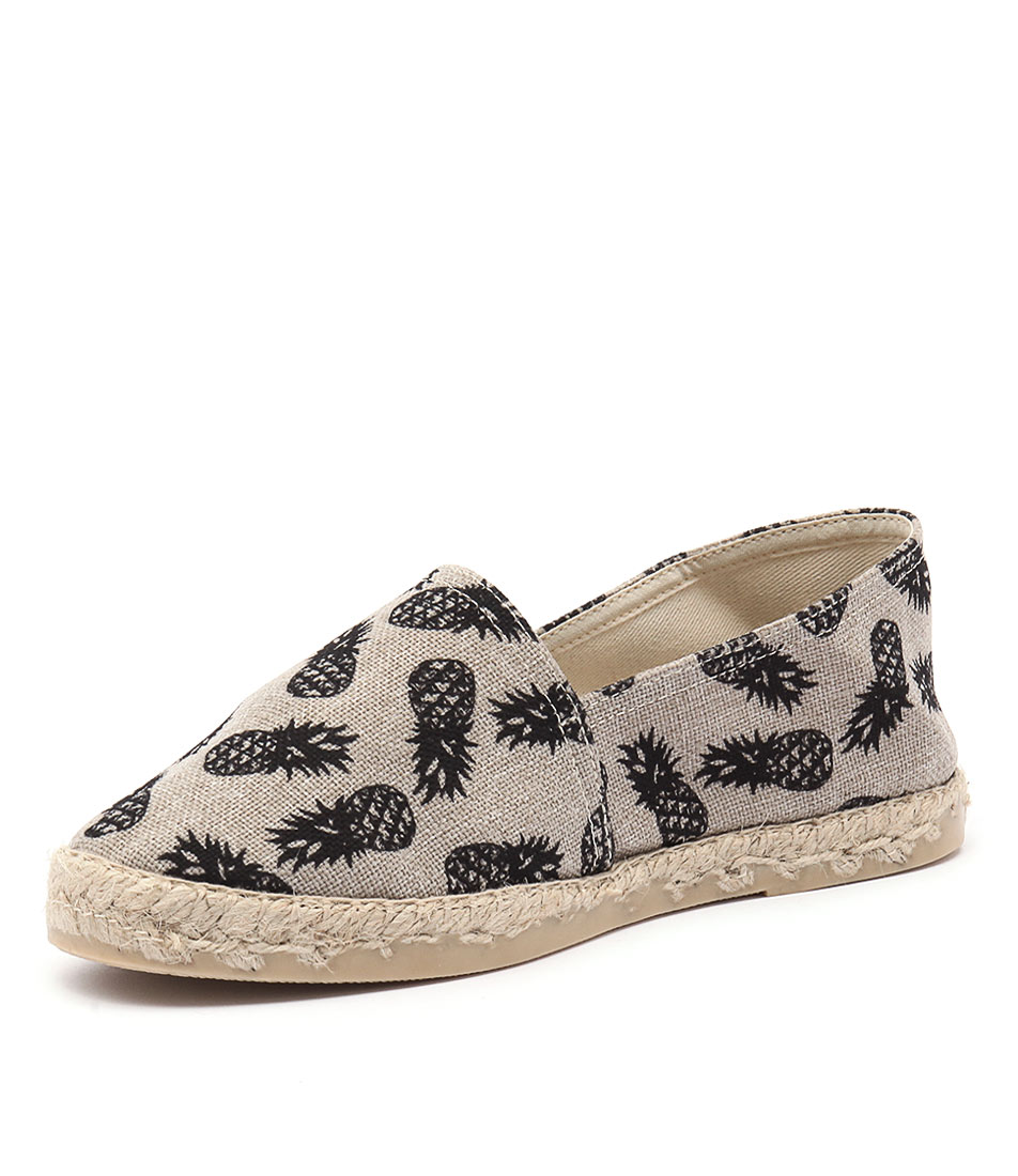 La Maison de L'Espadrille 324 Black Pineapple Shoes