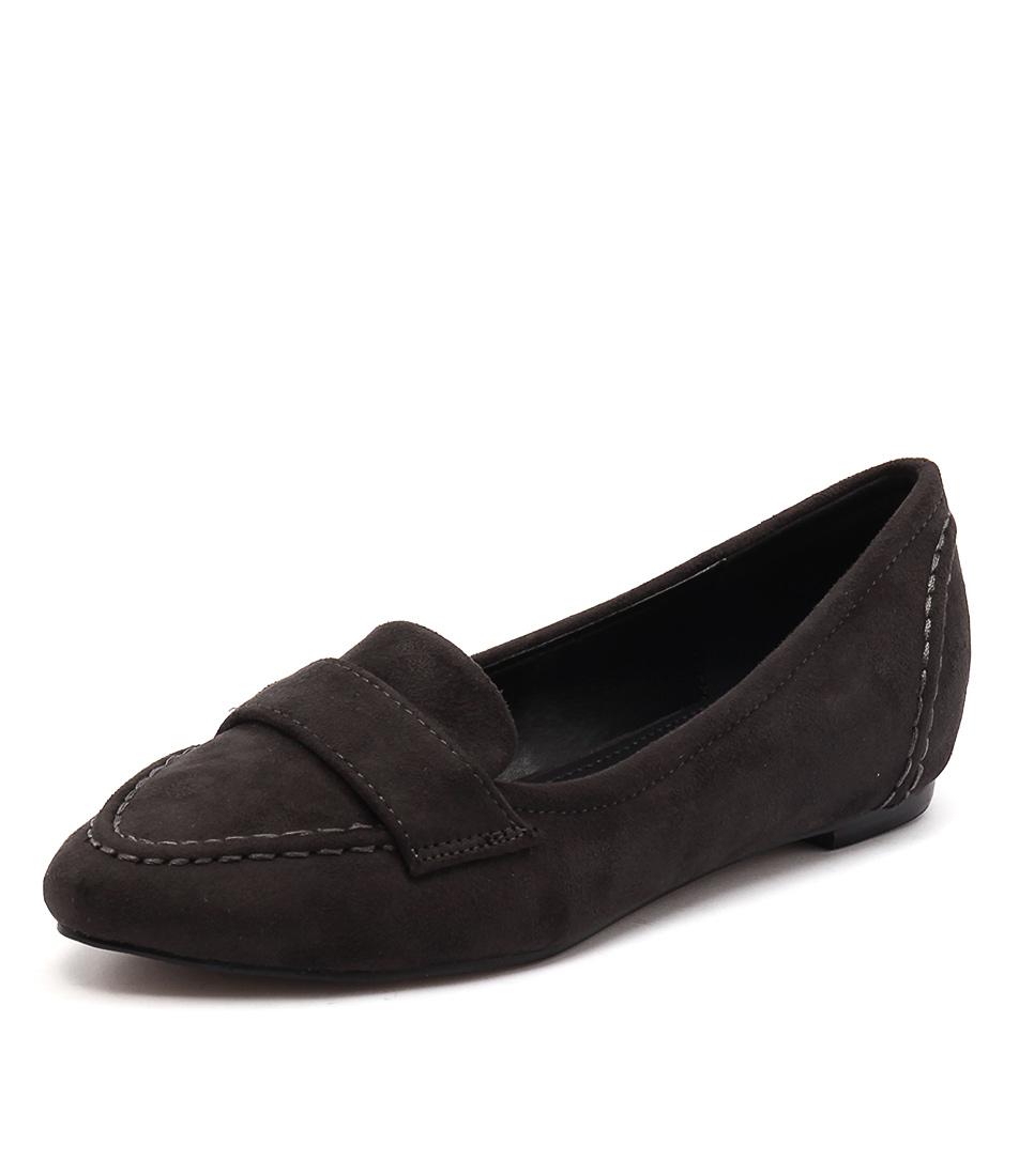Lavish Cheri Charcoal Loafers