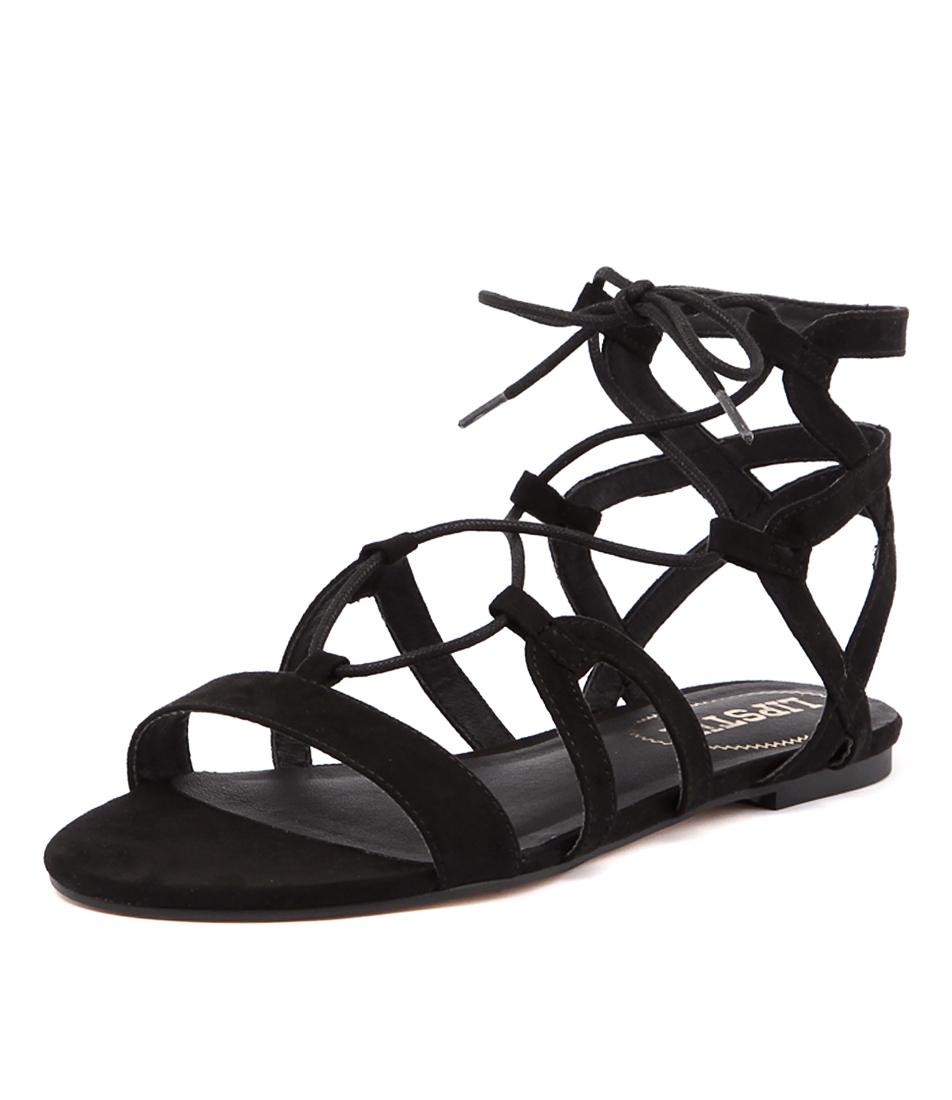 Lipstik Wrapping Black Micro Sandals