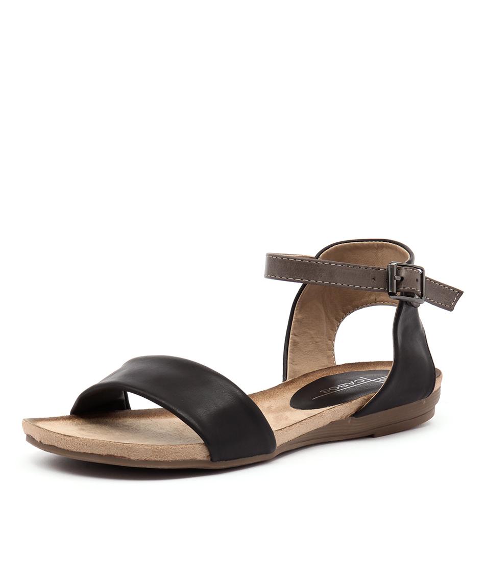 Los Cabos Del Black-Taupe Sandals