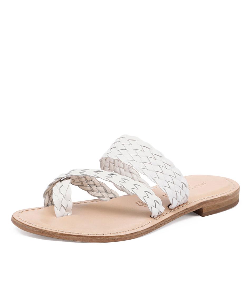 Maria Rossi Elana White Sandals