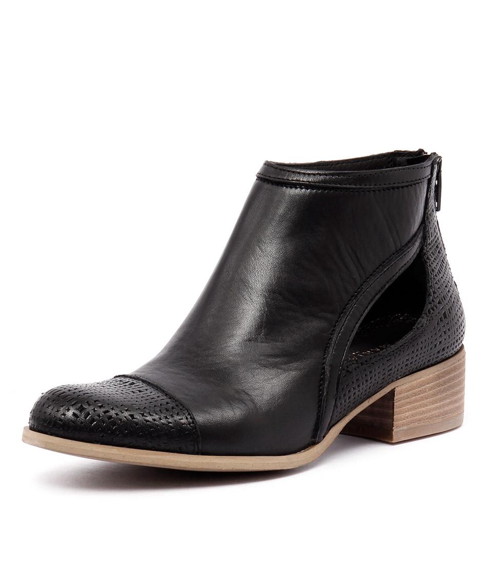 Maria Rossi Geraldine Nero Leather Boots
