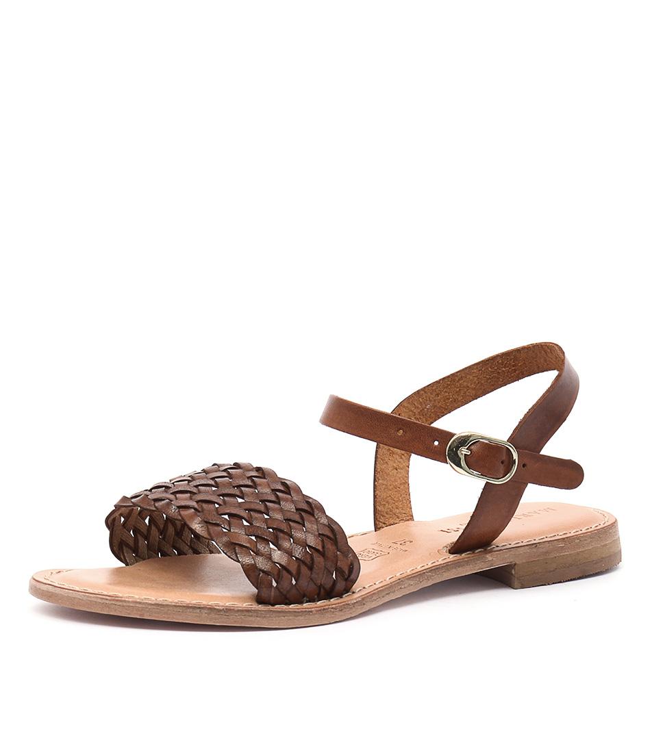 Maria Rossi Ebony Vacch Tan Sandals
