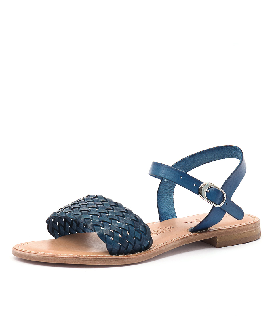 Maria Rossi Ebony Vacch Blue Sandals