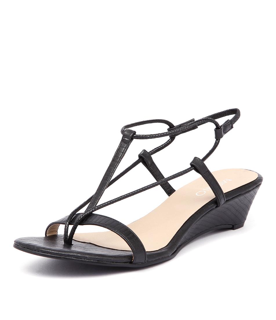 Misano Pepper Black Sandals