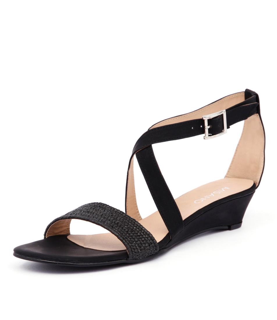 Misano Paros Black Sandals