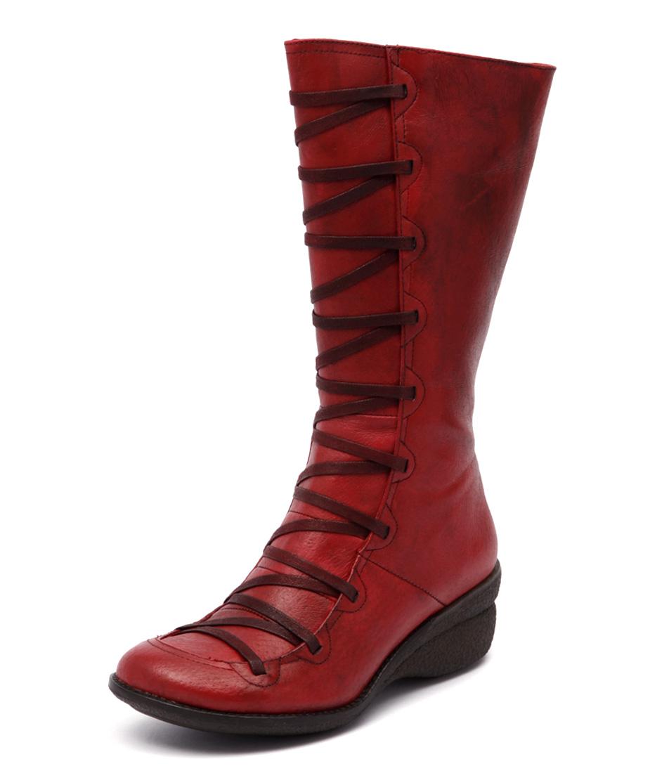 Miz Mooz Otis Red Boots