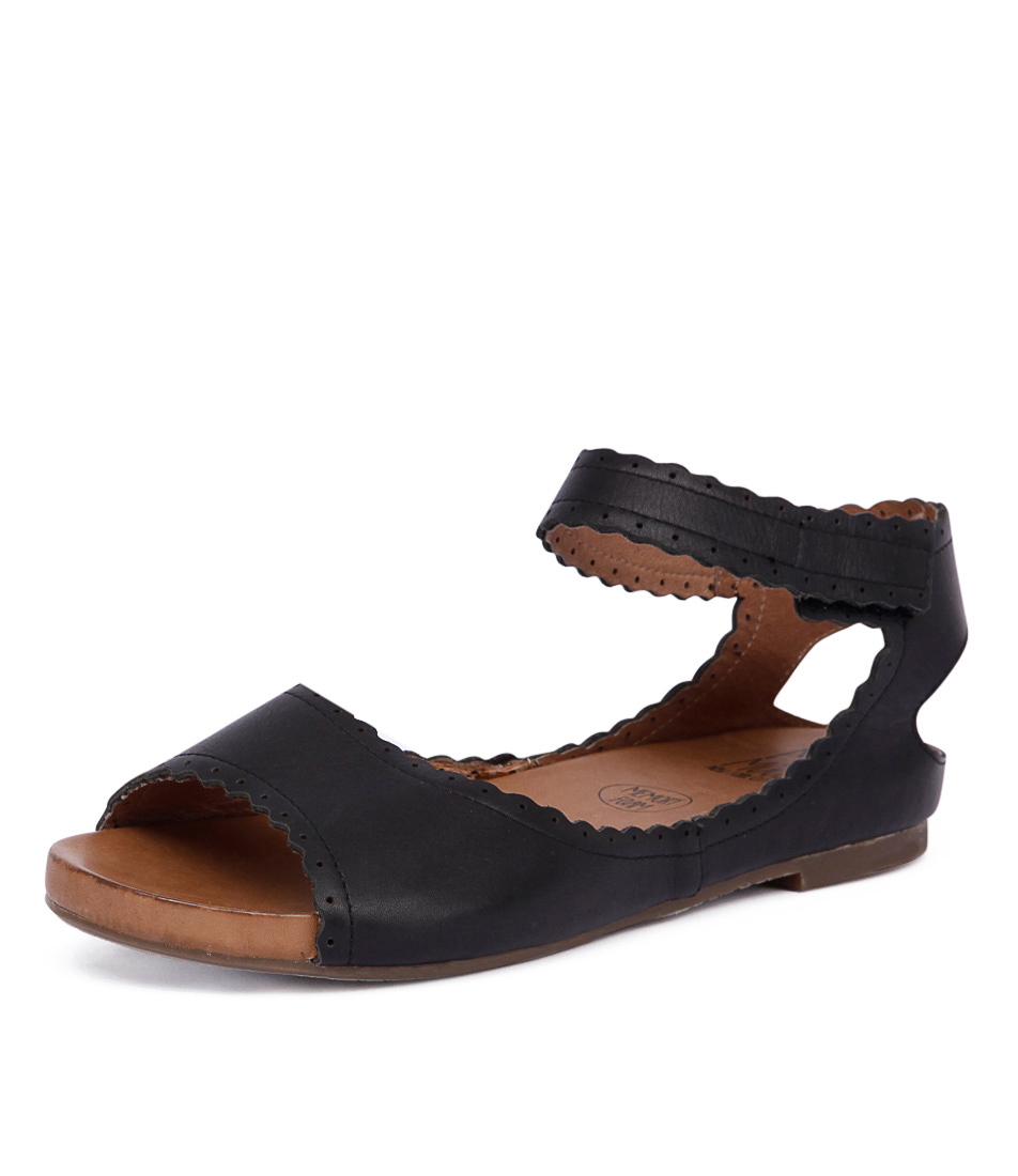 Miz Mooz Adalyn Black Sandals