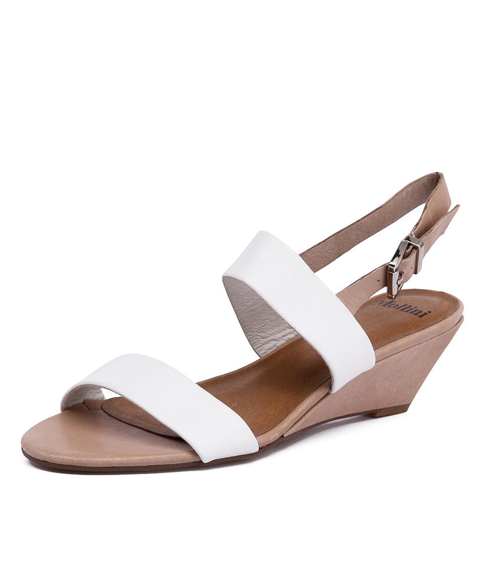 Mollini Maxim White-Nude Sandals