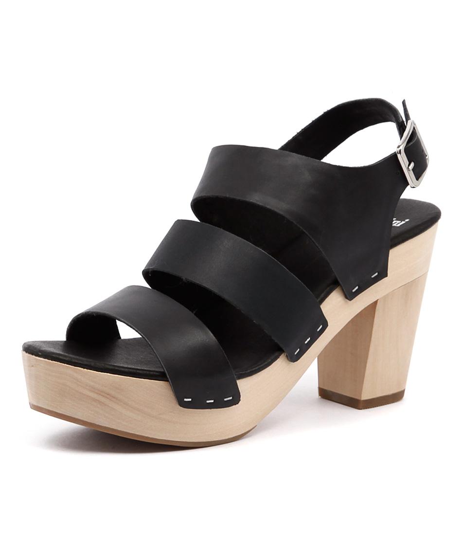 Mollini Gerri Black-Dark Navy-Black Sandals