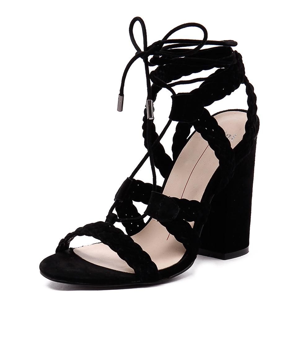 Mollini Fame Black Suede Sandals