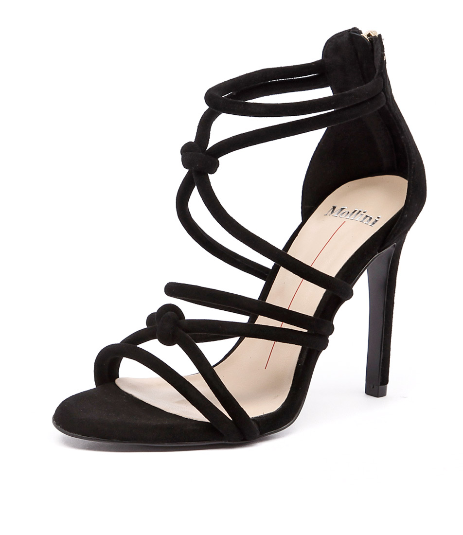 Mollini Lianey Black Suede Sandals