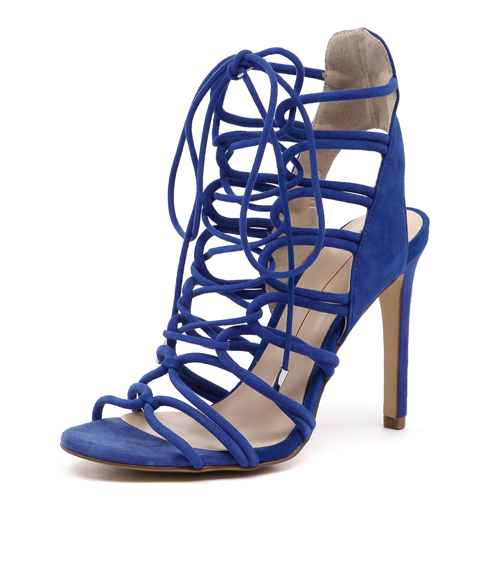 Mollini Lilly Cobalt Suede Sandals